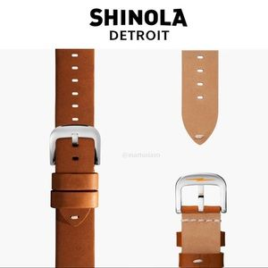 Shinola Detroit Largo Tan Watch Band Leather 18MM